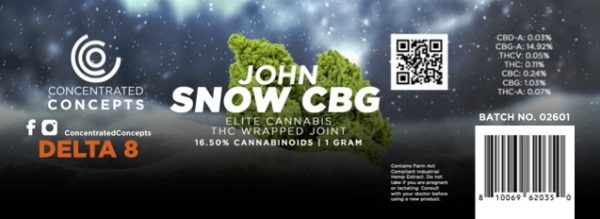 Concentrated Concepts D8 pre-rolls - John Snow