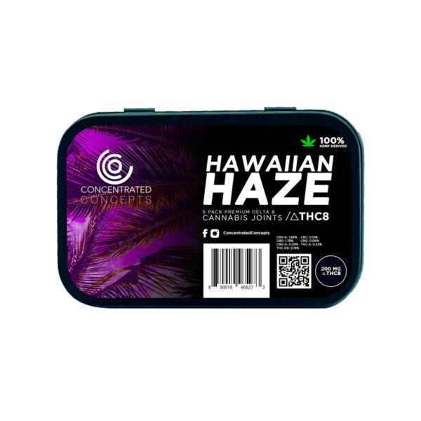 Concentrated Concepts D8 pre-rolls - Hawaiian Haze