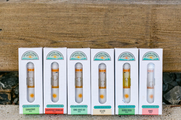 Crystal Creek Organics Delta-8 Vape Cartridges group