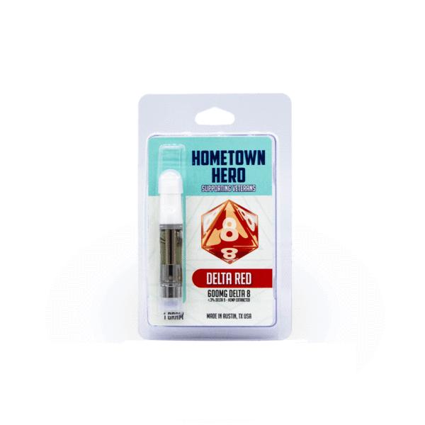 Hometown Hero Delta 8 THC Vape Cart - Delta Red