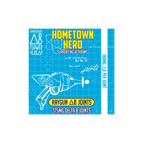 Hometown Hero Raygun Delta 8 THC Joint