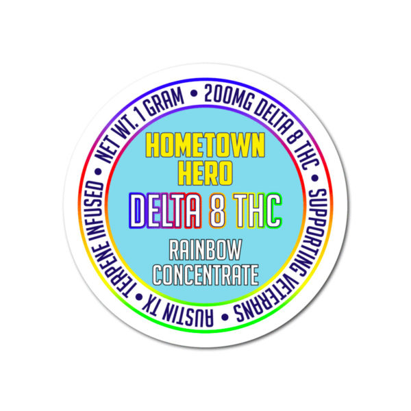 Hometown Hero Delta 8 THC Concentrate - Rainbow